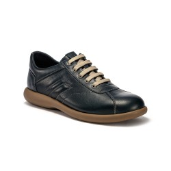Frau 2773 snakers scarpe uomo in vera pelle blu made in italy