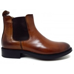 Ghilbert 740 stivaletti uomo in vera pelle brown made in italy