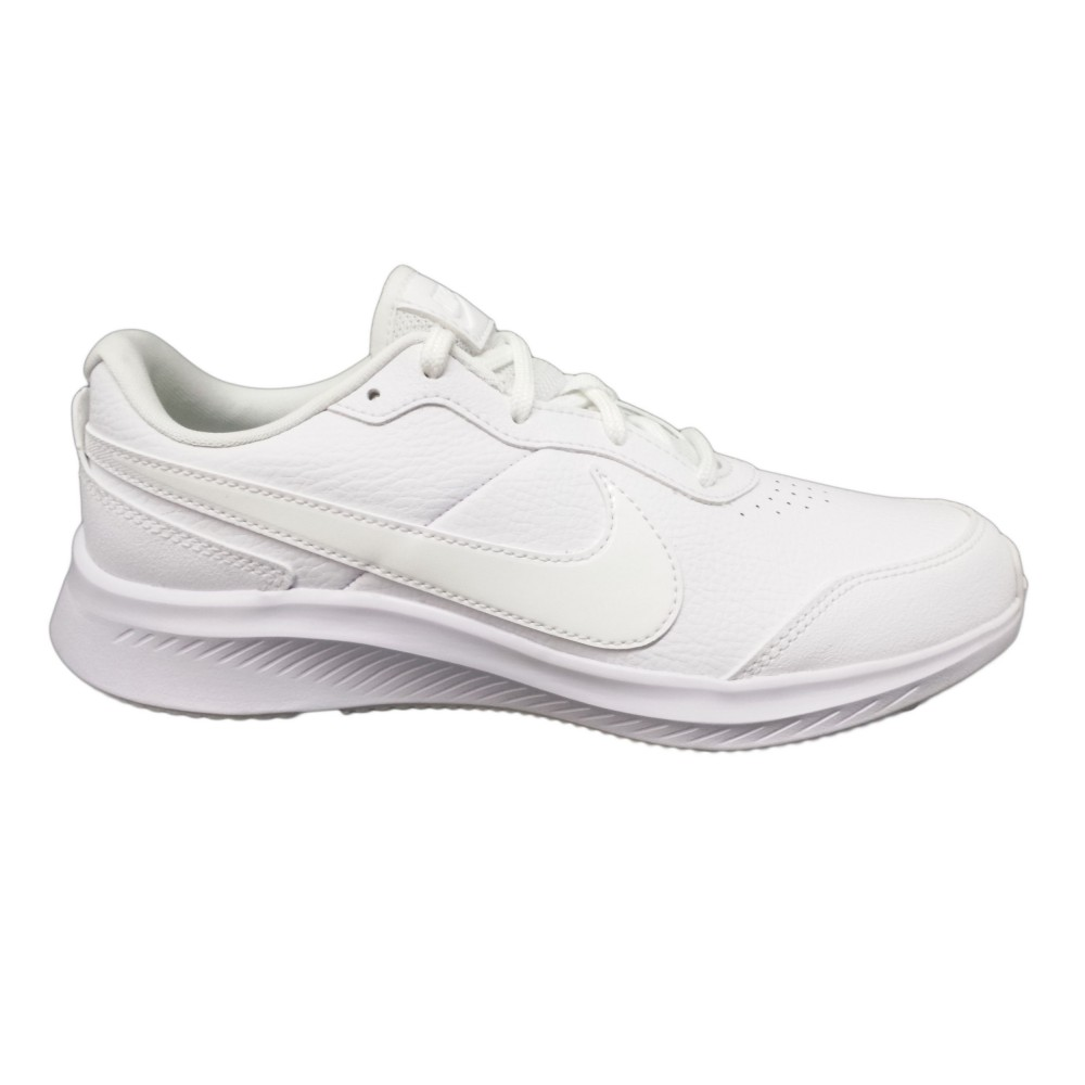 Nike Varsity Leather GS CN9146 101 scarpe running donna pelle sint bianco