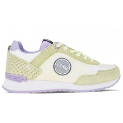 Colmar Travis colors 137 scarpe running donna suede/mesh lime lavander