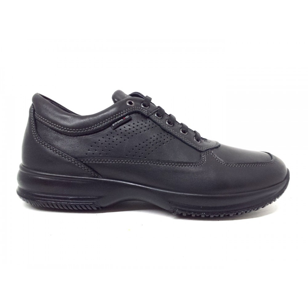Enval Soft 7217000 sneakers scarpe uomo vera pelle nero made in italy