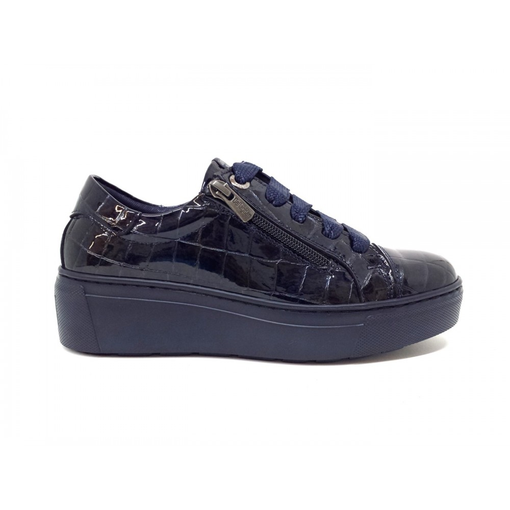 Callaghan 14931 sneakers scarpe donna adaptaction vernice stampato cocco blu